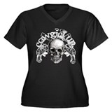 """Cowgirl Up"" Women's Plus Size V-Neck Dark T-Shirt"
