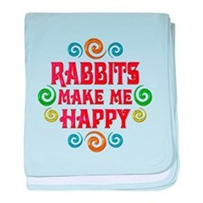 Rabbit Happiness baby blanket