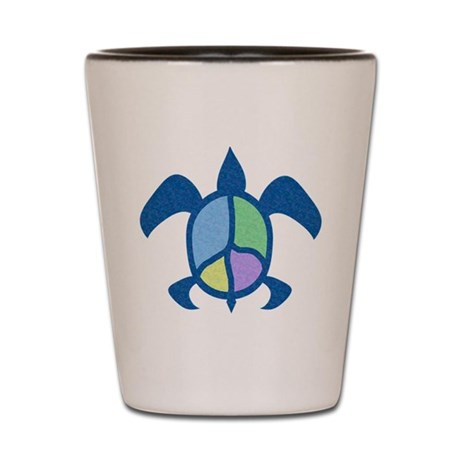 Peace Sea Turtle Shot Glass