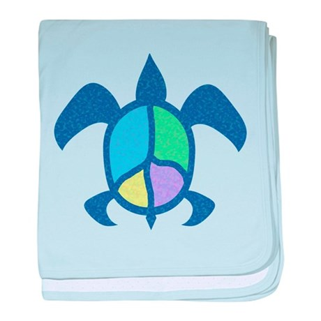 Peace Sea Turtle baby blanket
