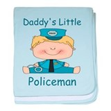 Daddy's Little Policeman baby blanket