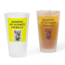 mahjong player gifts t-shirts Pint Glass