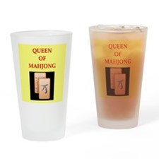 mahjong players Pint Glass