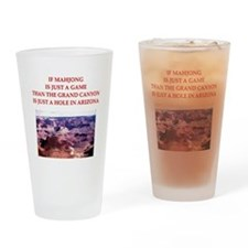 funny mahjong joke Pint Glass