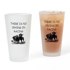 i love horse racing Pint Glass