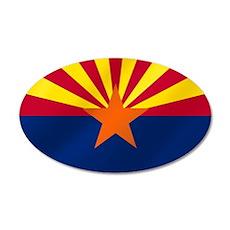 Arizona State Flag 38.5 x 24.5 Oval Wall Peel