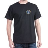 730th Airlift Squadron Black T-Shirt