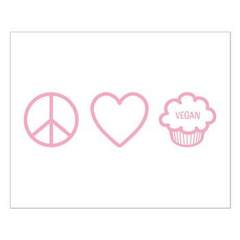 Peace, Love & Vegan Cupcakes Small Poster