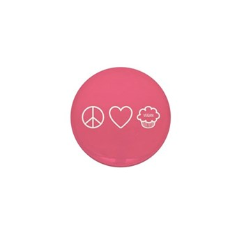 Peace, Love & Vegan Cupcakes Mini Button (10 p