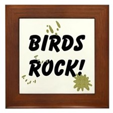 Birds Rock Framed Tile