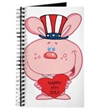Pink Rabbit Happy 4th July Journal