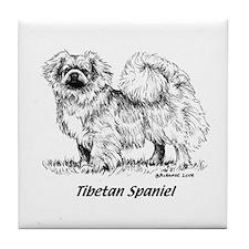 Tibetan Spaniel Tile Coaster