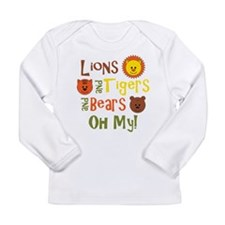 Lions & Tigers & Bears! Oh My Long Sleeve Infant T