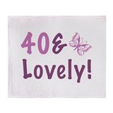 40 &amp; Lovely Throw Blanket