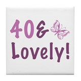 40 & Lovely Tile Coaster