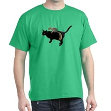Squirrel on Cat T-Shirt