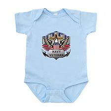 USN Official Navy Veteran Infant Bodysuit