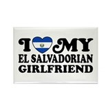 I Love My El Salvadorian Girlfriend Rectangle Magn