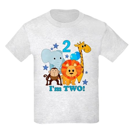 2nd Birthday Jungle Kids Light T-Shirt