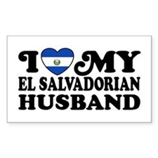I Love My El Salvadorian Husband Decal