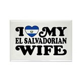 I Love My El Salvadorian Wife Rectangle Magnet