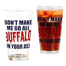 Buffalo Football Drinking Glass