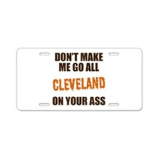 Cleveland Football Aluminum License Plate