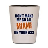 Miami Football Shot Glass