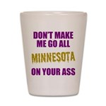 Minnesota Football Shot Glass