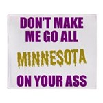 Minnesota Football Throw Blanket