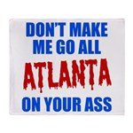 Atlanta Baseball Throw Blanket