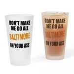Baltimore Baseball Drinking Glass