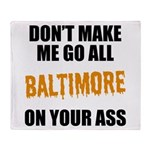 Baltimore Baseball Throw Blanket