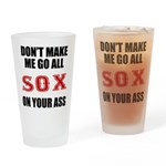 Boston Baseball Drinking Glass