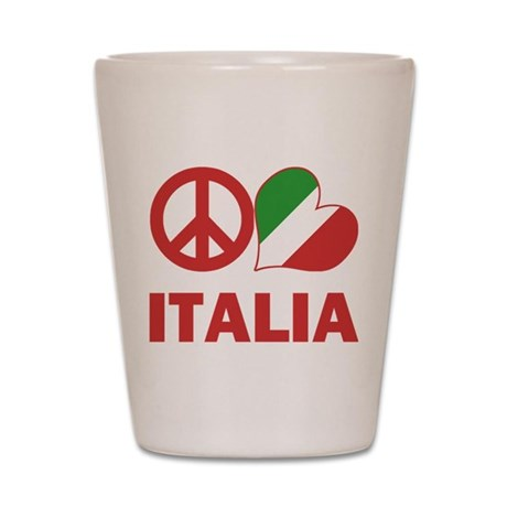 Peace Love Italy Shot Glass