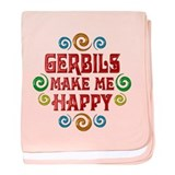 Gerbil Happiness baby blanket