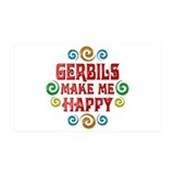Gerbil Happiness 38.5 x 24.5 Wall Peel