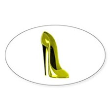 Mellow Yellow Stiletto Shoe Decal