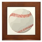 Baseball Symbol Framed Tile