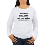 Social Networking Site That W Women's Long Sleeve