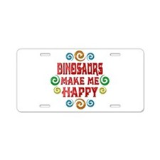 Dinosaur Happiness Aluminum License Plate
