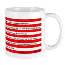 America the Beautiful Flag Mug