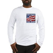 God Bless The USA! Long Sleeve T(pocket)