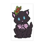 Dotty Cat Sticker (Rectangle)