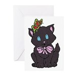 Dotty Cat Greeting Cards (Pk of 10)