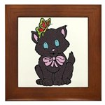 Dotty Cat Framed Tile