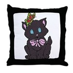 Dotty Cat Throw Pillow