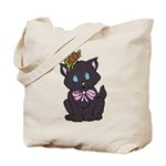 Dotty Cat Tote Bag