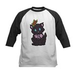 Dotty Cat Kids Baseball Jersey