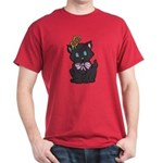 Dotty Cat Dark T-Shirt